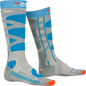 X-Socks Ski Control 4.0 Calcetines Mujer, grey melange/turquoise